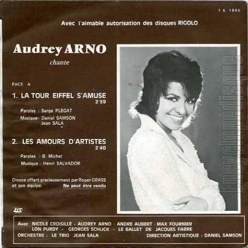 Audrey Arno Si J'Aime Vivre - La Rivière - Quand Jean-Paul Rentrera - Ce Soir Mon Coeur Est Amoureux