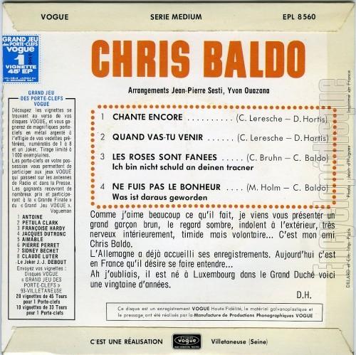 Chris Baldo - Chante encore