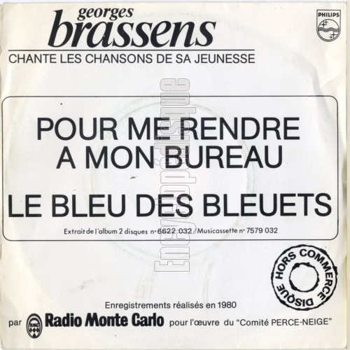 encyclop disque disque georges brassens chante les chansons de sa jeunesse. Black Bedroom Furniture Sets. Home Design Ideas