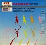 [Pochette de Parole / Machine (Centre National d'�tudes des T�l�communications)]