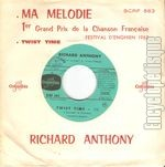 [Pochette de Ma mélodie - Twist time (Richard ANTHONY)]