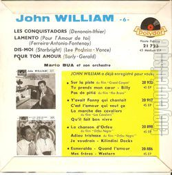 [Pochette de Les conquistadors (John WILLIAM) - verso]