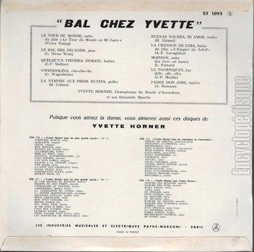 Yvette Horner Bal Chez Yvette