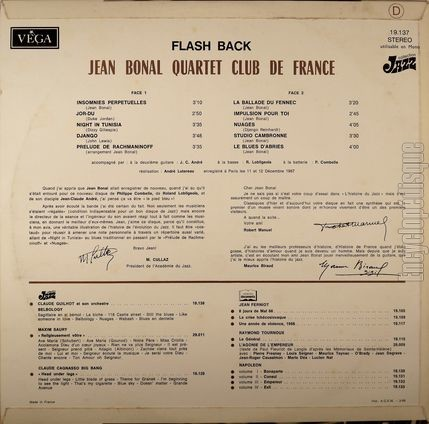 [Pochette de Flash back (Jean BONAL) - verso]