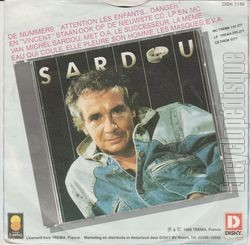 [Pochette de Attention les enfants… danger (Michel SARDOU) - verso]