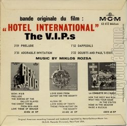 "[Pochette de Hotel international ""The V.I.P.'s"" (B.O.F. « Films ») - verso]"