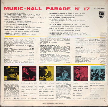 [Pochette de Music-Hall parade n° 17 (MUSIC-HALL PARADE) - verso]