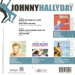 [Pochette de Shake the hand of a fool (Johnny HALLYDAY) - verso]