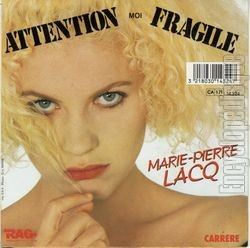 [Pochette de Attention, moi fragile (Marie-Pierre LACQ) - verso]