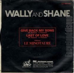 [Pochette de Give back my song (WALLY AND SHANE) - verso]