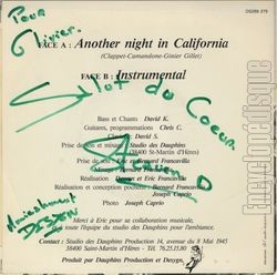 [Pochette de Another night in California (DESYGN) - verso]