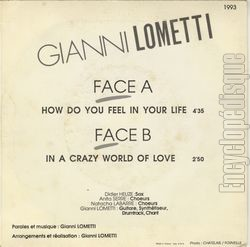 [Pochette de How do you feel in your life (Gianni LOMETTI) - verso]