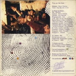 [Pochette de You are the boss (WANT' AID CLUB BAND) - verso]