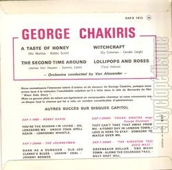 [Pochette de Memories are made of these (George CHAKIRIS) - verso]