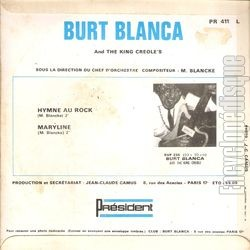 [Pochette de Hymne au rock (Burt BLANCA and the KING CREOLE'S) - verso]