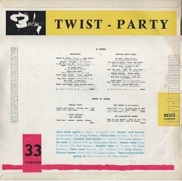 [Pochette de Twist party (COMPILATION) - verso]