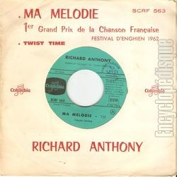 [Pochette de Ma mélodie - Twist time (Richard ANTHONY) - verso]