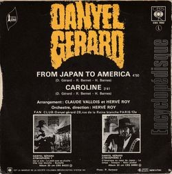 [Pochette de From Japan to America (Danyel GÉRARD) - verso]