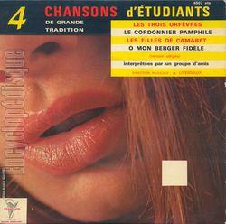 [Pochette de 4 chansons d'�tudiants de grande tradition (COMPILATION)]