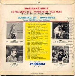 [Pochette de I'm watching you (Marianne MILLE) - verso]