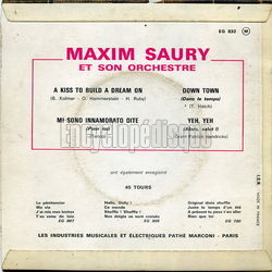 [Pochette de A kiss to build a dream on (Maxim SAURY) - verso]