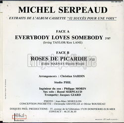 [Pochette de Everybody loves somebody (Michel SERPEAUD) - verso]