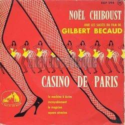 """[Pochette de Joue les succès du film de Gilbert Bécaud """"Casino de Paris"""" (Noël CHIBOUST)]"""