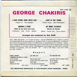 [Pochette de I love being here with you (George CHAKIRIS) - verso]