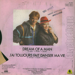 [Pochette de Dream of a man (Line RENAUD) - verso]