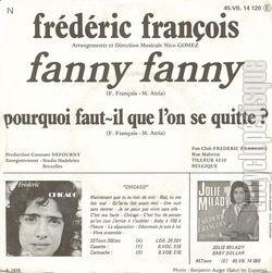 [Pochette de Fanny Fanny (Frédéric FRANÇOIS) - verso]