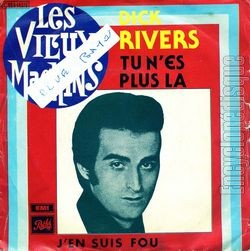 [Pochette de Tu n'es plus là (Dick RIVERS)]
