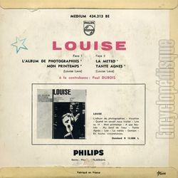 [Pochette de L'album de photographies (LOUISE) - verso]