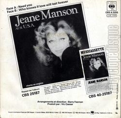 [Pochette de Need you (Jeane MANSON) - verso]