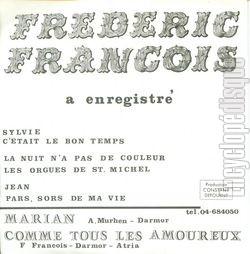 [Pochette de Marian (Frédéric FRANÇOIS) - verso]