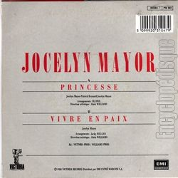 [Pochette de Princesse (Jocelyn MAYOR) - verso]