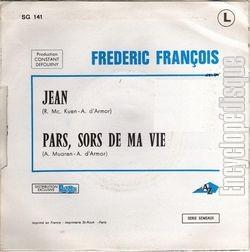 [Pochette de Jean (Frédéric FRANÇOIS) - verso]