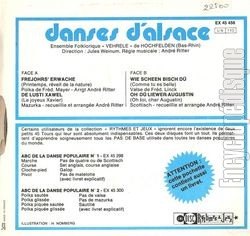 [Pochette de Danses d'Alsace (DOCUMENT) - verso]