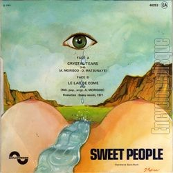 [Pochette de Crystal tears (SWEET PEOPLE) - verso]