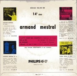[Pochette de Y'avait Fanny qui chantait (Armand MESTRAL) - verso]
