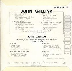 [Pochette de Old man river (John WILLIAM) - verso]