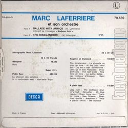"[Pochette de France Inter  ""Madame Inter"" (Annick Beauchamps) (RADIO) - verso]"