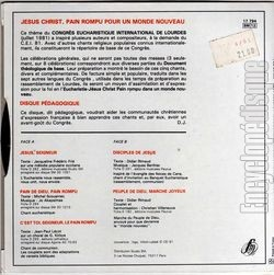 [Pochette de Chants du congrès eucharistique international - Lourdes 1981 (RELIGION) - verso]