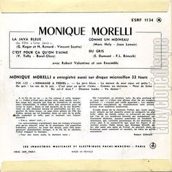 [Pochette de Monique Morelli chante Fréhel (Monique MORELLI) - verso]