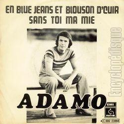[Pochette de En blue jeans et en blouson d'cuir (Salvatore ADAMO)]