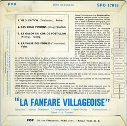 [Pochette de Old dutch (La FANFARE VILLAGEOSIE) - verso]