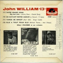 [Pochette de Sacré Grand John (John WILLIAM) - verso]