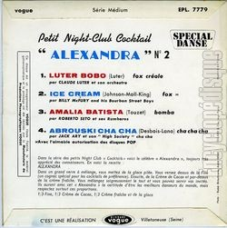 "[Pochette de Petit night-club cocktail n° 2 ""Alexandra"" (PETIT NIGHT-CLUB) - verso]"