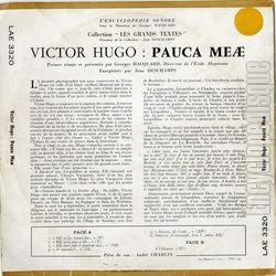 Encyclopdisque Disque Victor Hugo Pauca Meae