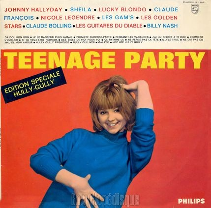 "[Pochette de Teenage party ""Édition spéciale hully-gully' (COMPILATION)]"