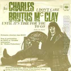 [Pochette de I don't care (Charles BRUTUS Mc CLAY) - verso]
